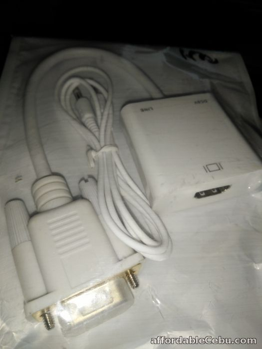 2nd picture of VGA Male to HDMI Female Video Adapter with Audio Gold Plated PC HDTV For Sale in Cebu, Philippines