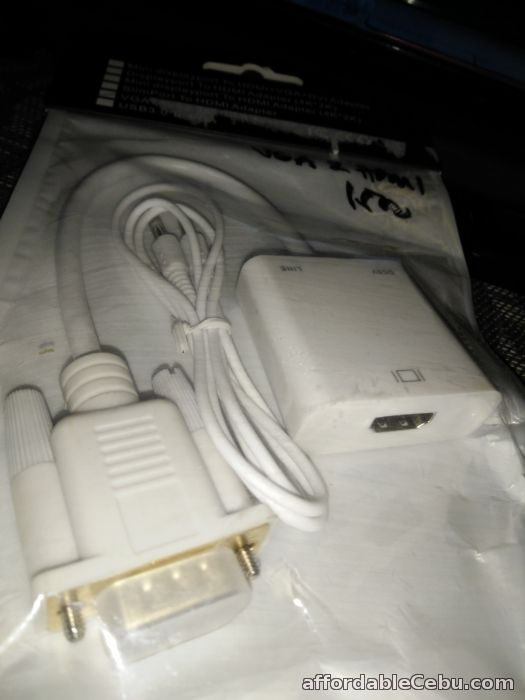 3rd picture of VGA Male to HDMI Female Video Adapter with Audio Gold Plated PC HDTV For Sale in Cebu, Philippines