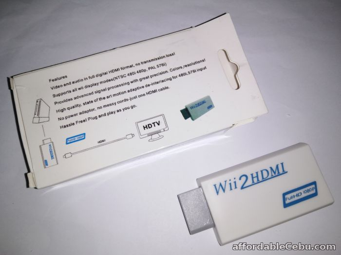 2nd picture of Wii To HDMI (wii2hdmi) Upscaling Converter Adapter 3.5mm White For Sale in Cebu, Philippines