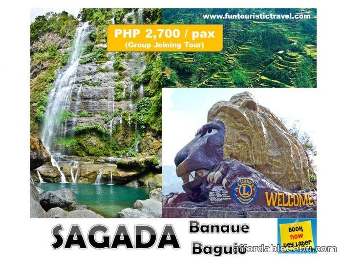 1st picture of 3 DAYS 2 NIGHTS BREATHTAKING SAGADA WITH SIDE TRIP IN BANAUE AND BAGUIO TOUR PACKAGE Offer in Cebu, Philippines