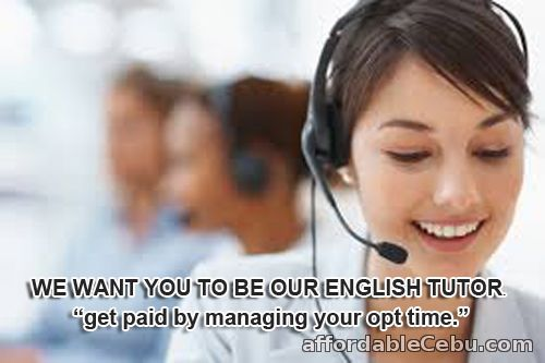 1st picture of Employing English Tutors.Get paid online Looking For in Cebu, Philippines
