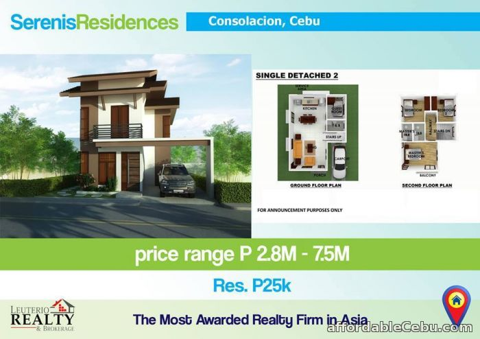 1st picture of SERENIS RESIDENCES, CONSOLACION CEBU - 0923.892.7146 For Sale in Cebu, Philippines