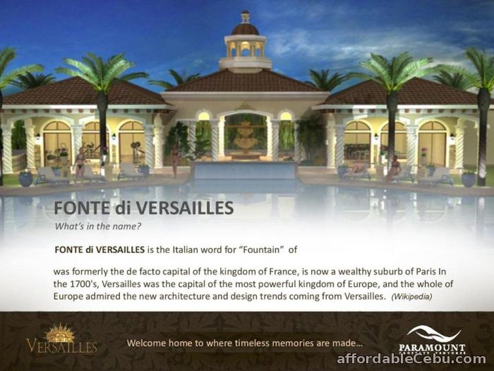 3rd picture of FONTE DI VERSAILLES, MINGLANILLA - 0923.892.7146 For Sale in Cebu, Philippines