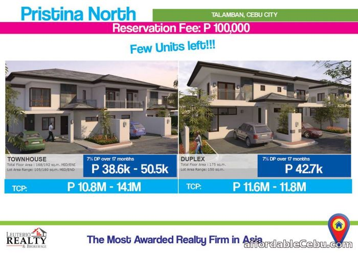 1st picture of PRISTINA NORTH 2.TALAMBAN, CEBU CITY - 0923.892.7146 For Sale in Cebu, Philippines