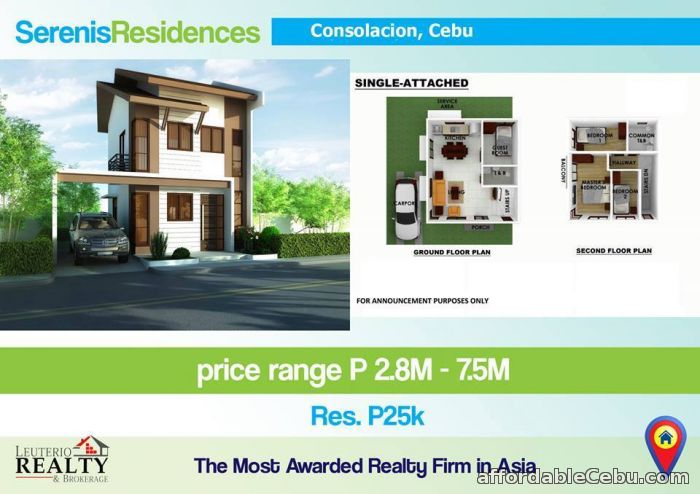 3rd picture of SERENIS RESIDENCES, CONSOLACION CEBU - 0923.892.7146 For Sale in Cebu, Philippines