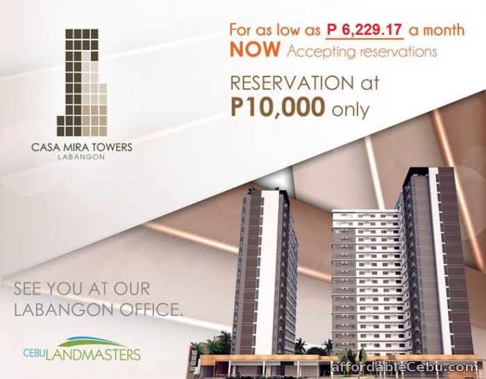 1st picture of CASA MIRA TOWERS Soon to Rise, For Only P6,229/mo. – PRE-SELLING UNITS !!! For Sale in Cebu, Philippines