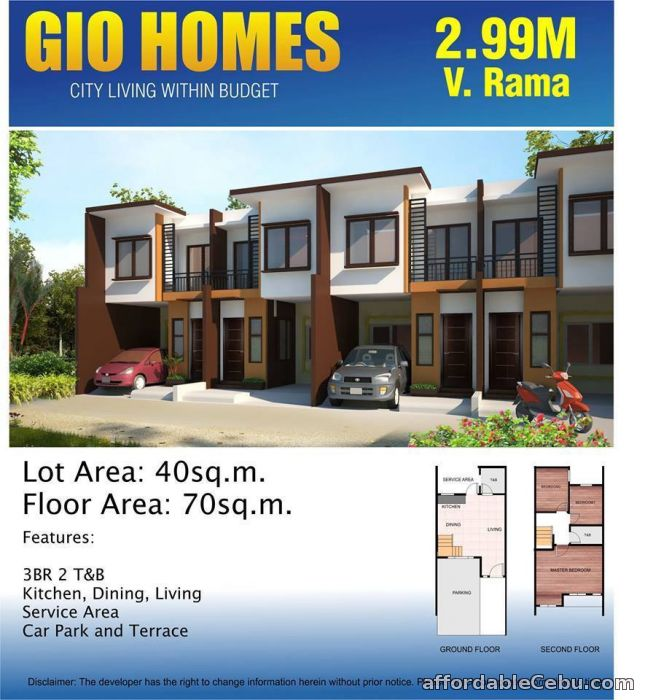 2nd picture of GIO HOMES, V. RAMA - 0923.892.7146 For Sale in Cebu, Philippines
