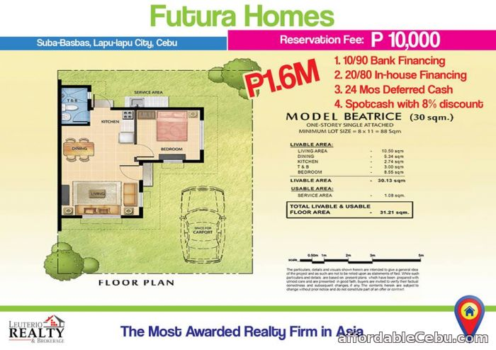 2nd picture of FUTURA HOMES MACTAN -  0923.892.7146 For Sale in Cebu, Philippines