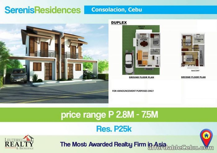 2nd picture of SERENIS RESIDENCES, CONSOLACION CEBU - 0923.892.7146 For Sale in Cebu, Philippines