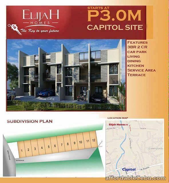 1st picture of For Sale House & Lot in Capitol Cebu City Elajah Homes For Sale in Cebu, Philippines