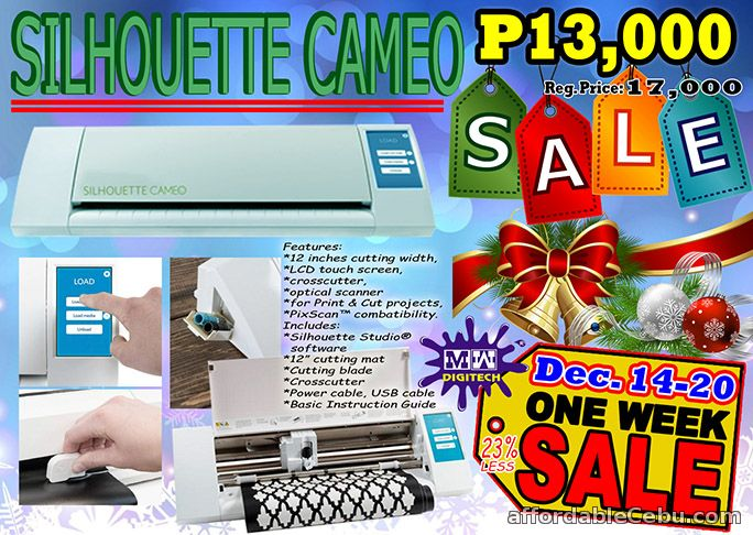 1st picture of Silhouette Cameo Touchscreen for one week sale Dec. 14-20, 2015 For Sale in Cebu, Philippines