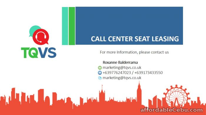 1st picture of REDUCE YOUR COST! LEASE YOUR SEATS TODAY WITH TQVS! For Rent in Cebu, Philippines