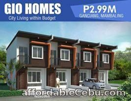 2nd picture of GIO HOMES - Ganciang, Mambaling, Cebu City - 2.99M Near Shopwise, Gaisano Metro, Tita Gwapa and SM Seaside Lot Area: 40 sq.m,  Floor Area; 7 For Sale in Cebu, Philippines
