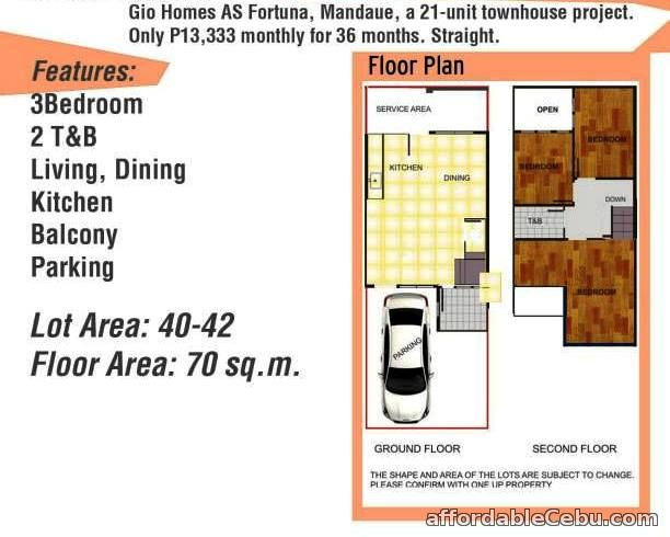 3rd picture of house for sale in Gio Homes A.S. Fortuna Mandaue city For Sale in Cebu, Philippines