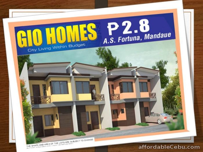 1st picture of house for sale in Gio Homes A.S. Fortuna Mandaue city For Sale in Cebu, Philippines