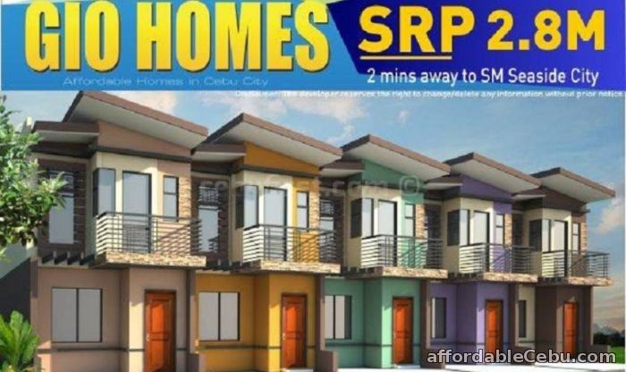1st picture of House & Lot For Sale In Cebu City Along SM SeeSide Gio Homes SRP For Sale in Cebu, Philippines