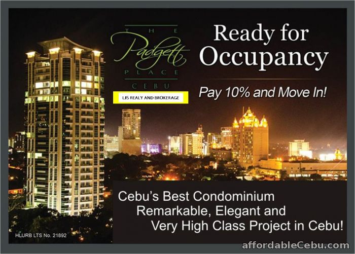1st picture of condo for sale at The Padgett Place Gorordo, Lahug Cebu city For Sale in Cebu, Philippines