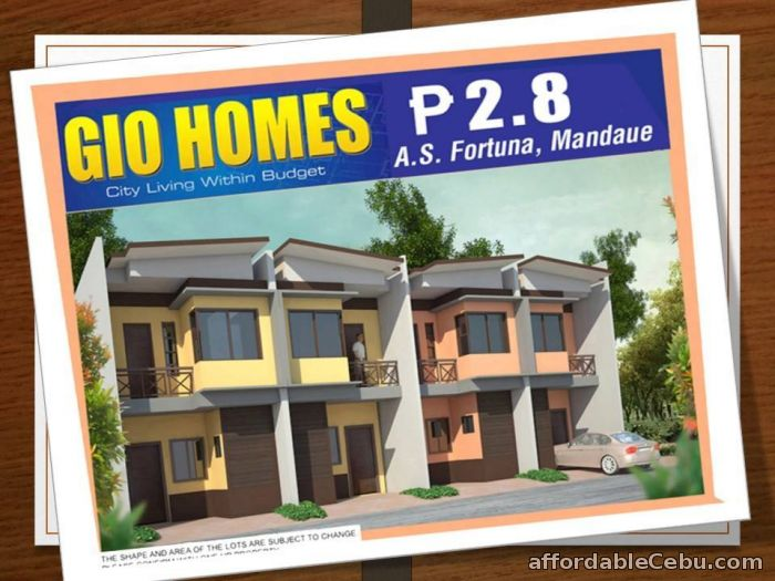 1st picture of House & Lot For Sale in Cebu Gio Homes A.S. Fortuna For Sale in Cebu, Philippines
