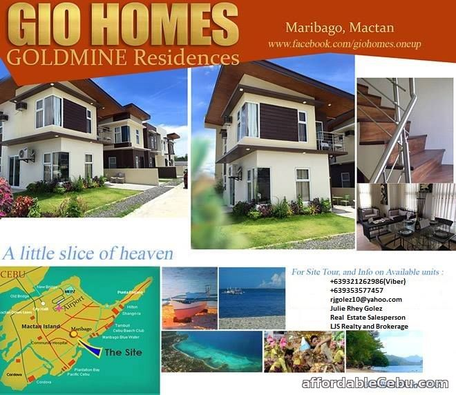 1st picture of House For Sale in Maribago Mactan Gio Homes Goldmine Residences For Sale in Cebu, Philippines