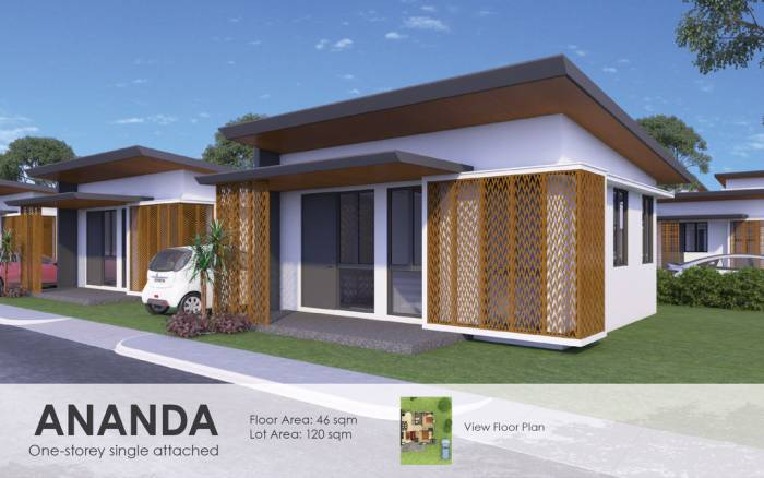 1st picture of one storey single attached house and lot in compostela For Sale in Cebu, Philippines