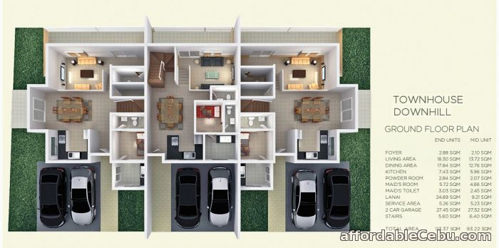 2nd picture of Luxury townhouse with 3 bedrooms in talamban cebu For Sale in Cebu, Philippines