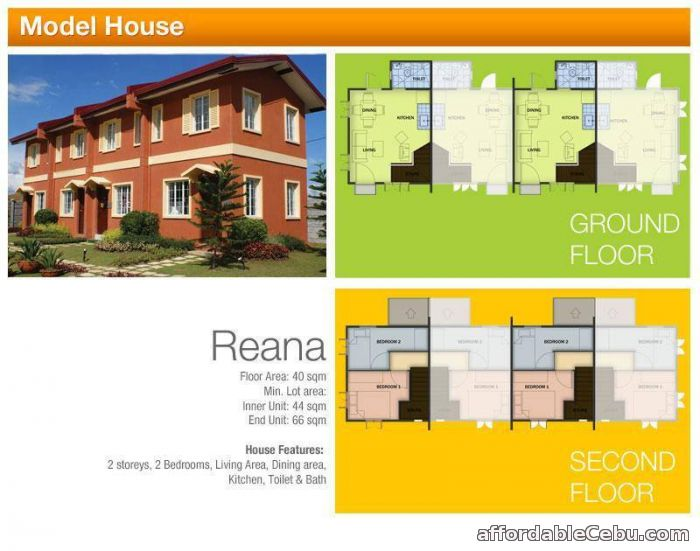 1st picture of Camella Reana Model RFO (2 storey Townhouse) For Sale in Cebu, Philippines