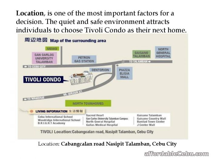 5th picture of Tivoli Condominium Nasipit Talamban Cebu City For Sale in Cebu, Philippines