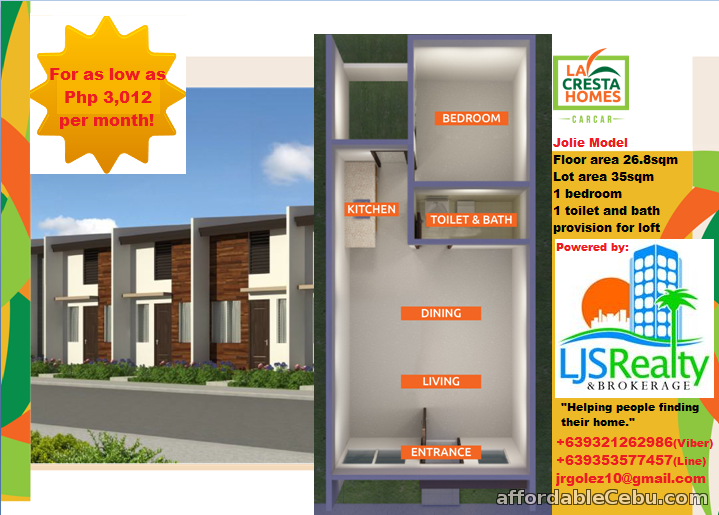 2nd picture of house for sale at La Cresta Homes Carcar city,Cebu For Sale in Cebu, Philippines