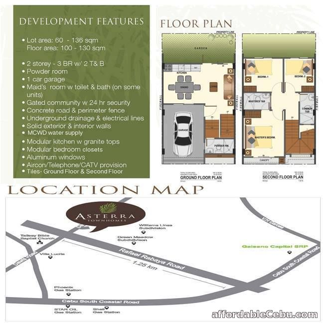 5th picture of ASTERRA Townhomes in Dauis, Talisay City For Sale in Cebu, Philippines