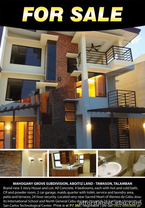 1st picture of New House for sale @ Mahogany Grove near Ateneo de Cebu For Sale in Cebu, Philippines