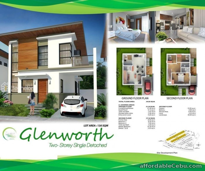 1st picture of The Crescent Ville Glenworth Model- Minglanilla, Cebu For Sale in Cebu, Philippines
