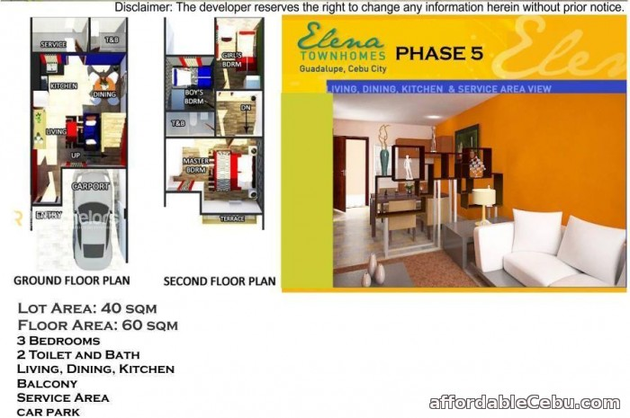 2nd picture of ELENA TOWNHOMES - PHASE 5 Guadalupe, Cebu City For Sale in Cebu, Philippines