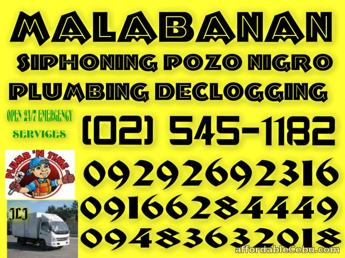 1st picture of Malabanan siphoning septic tank services 09292692316 Offer in Cebu, Philippines