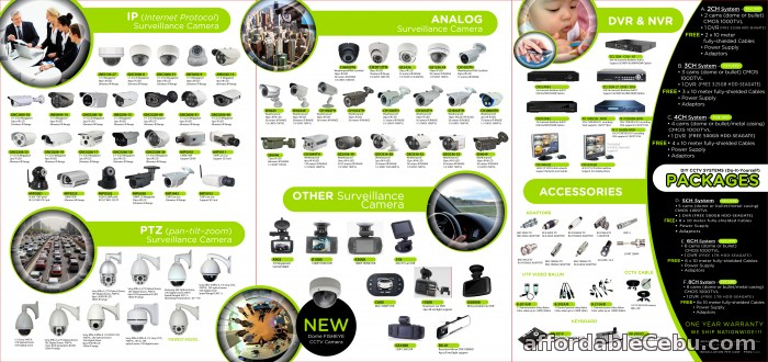 1st picture of HIGH RESOLUTION & AFFORDABLE CCTV SYSTEM for Sale in Cebu For Sale in Cebu, Philippines