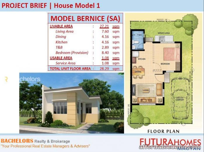 3rd picture of Mactan Subabasbas Futura Homes Beatrice Model For Sale in Cebu, Philippines