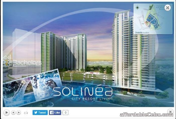 3rd picture of Solinea @ Cebu Business Park, Cebu City 2 Bedroom Unit (Tower 1-3 For Sale in Cebu, Philippines