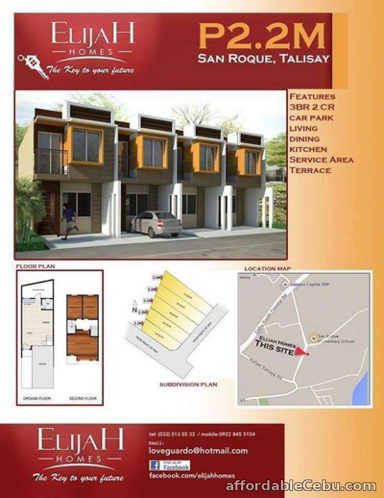 2nd picture of Townhouse in San Roque, Talisay City Cebu - Elijah Homes For Sale in Cebu, Philippines