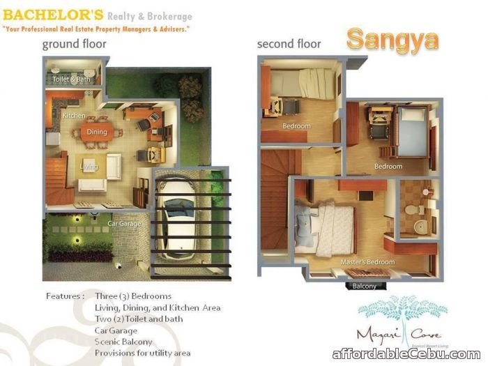 3rd picture of NAGA Cebu House & Lot 4 SALE Sangya Model For Sale in Cebu, Philippines