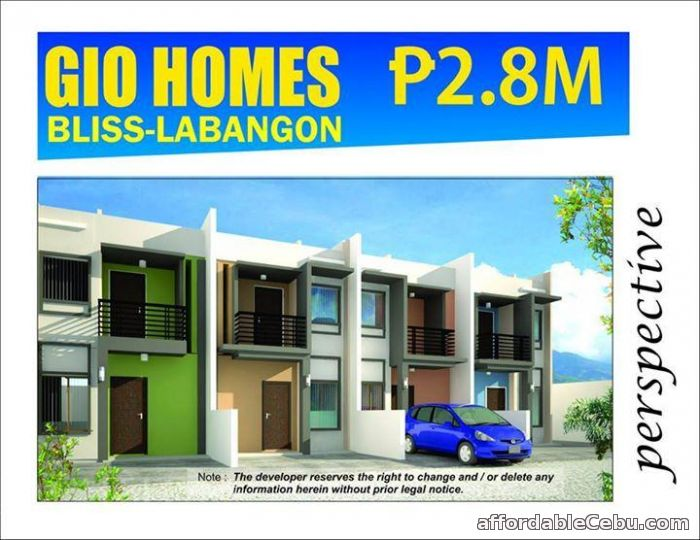 1st picture of Labangon Giohomes Bliss For Sale in Cebu, Philippines