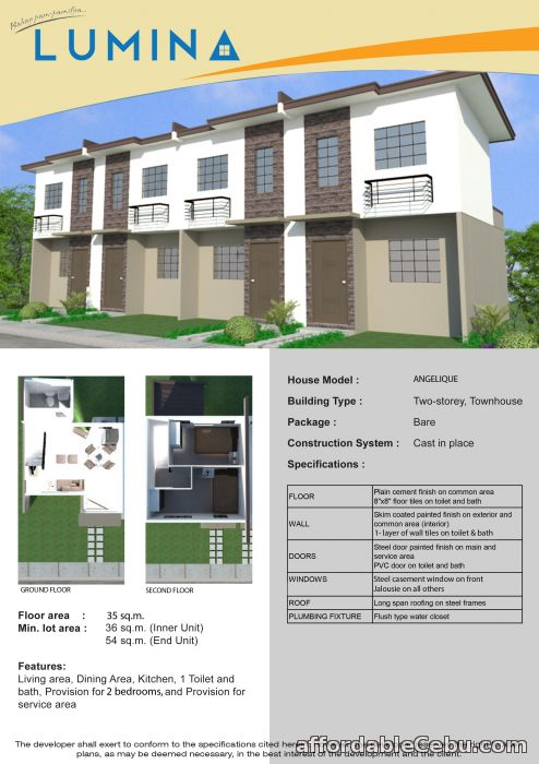 5th picture of Carcar Lumina Homes 2Storey Townhouse For Sale in Cebu, Philippines