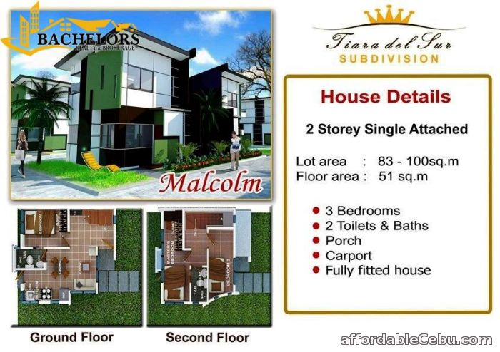 5th picture of Tiara Del Sur Subdivision Malcolm Model For Sale in Cebu, Philippines