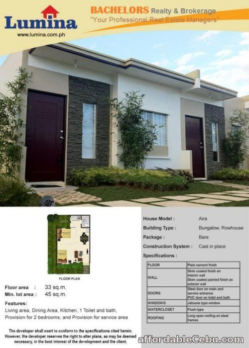 2nd picture of Lumina Homes RowHouse 1Storey For Sale in Cebu, Philippines