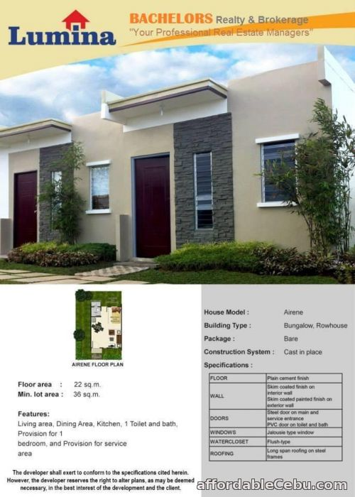 4th picture of Lumina Homes RowHouse 1Storey For Sale in Cebu, Philippines
