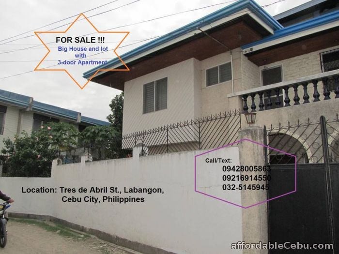 2nd picture of Labangon House and Lot with 3-Door Apartment For Sale For Sale in Cebu, Philippines