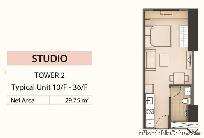 5th picture of Mandani Bay Studio Unit - Cebu, Mandaue City For Sale in Cebu, Philippines