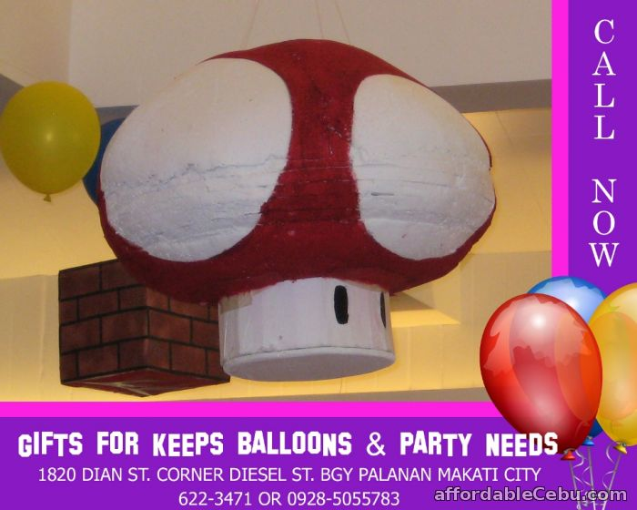 1st picture of 3D Mario Mushroom Styro Pinata For Sale in Cebu, Philippines