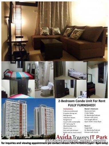 1st picture of Brand new 2 bedroom 2 bathroom condo unit - Avida Tower 2 - IT Park For Rent in Cebu, Philippines