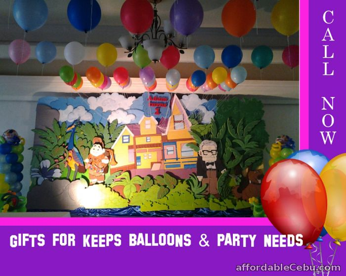 Disney up theme styro decoration for rent outside cebu for Balloon decoration for birthday party philippines