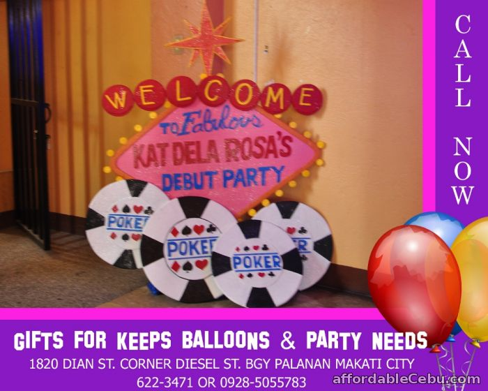 1st picture of Casino Thene Styro Decoration For Rent in Cebu, Philippines