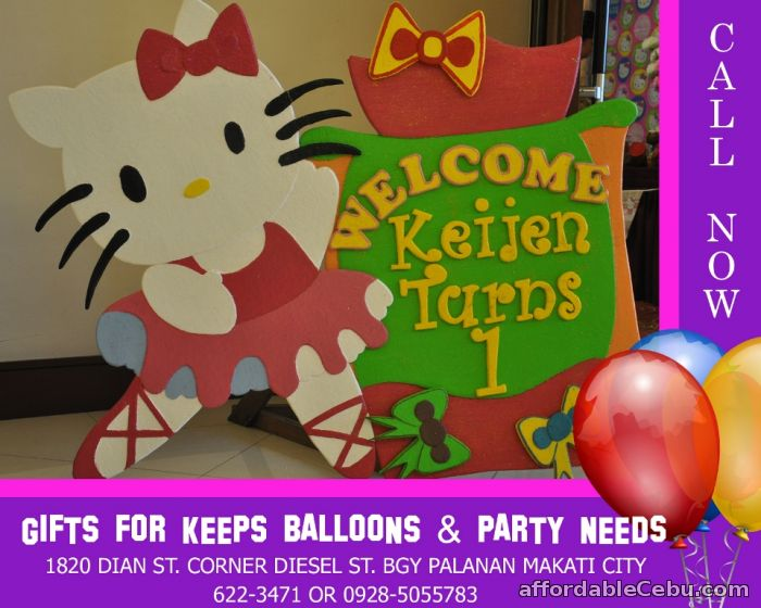1st picture of Hello Kitty Styro Decoration For Rent in Cebu, Philippines